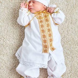 костюм для хрещення золотий хлопчик
